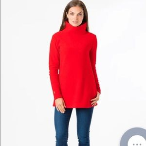 Dudley Stephens Cobble Hill Turtleneck in Red NWOT